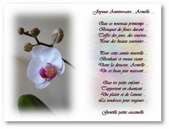 Poeme Pour Un Anniversaire